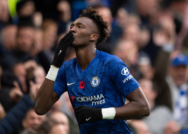 Tammy Abraham celebrates after scoring for Chelsea against Crystal Palace