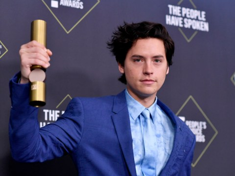 Cole Sprouse mocks Leonardo DiCaprio and Brad Pitt as he beats them to People's Choice award