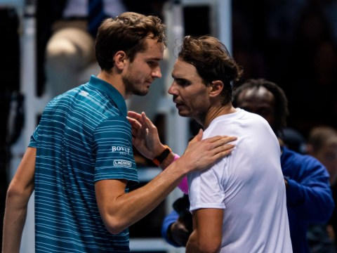 Daniil Medvedev reacts to painful Rafael Nadal ATP Finals defeat