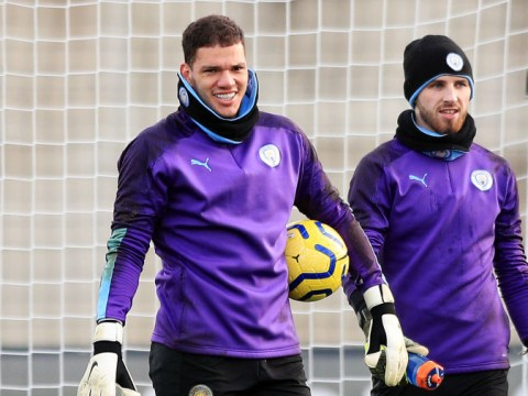 Ederson is back in training for Manchester City ahead of Chelsea clash