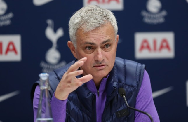 Jose Mourinho at his opening press conference as Tottenham manager ahead of the side's Premier League clash with West Ham