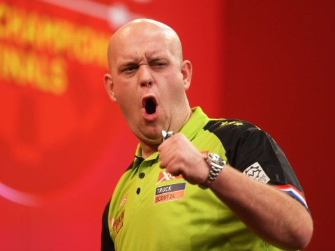 Michael van Gerwen matches Phil Taylor world record with 9-darter at Players Championship Finals