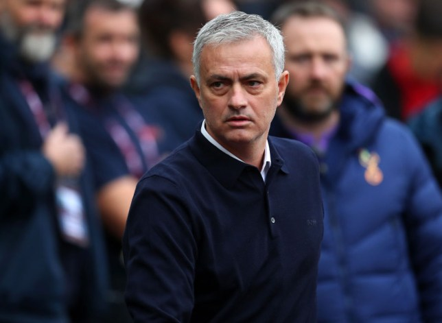 Jose Mourinho during Tottenham's victory over West Ham in the Premier League