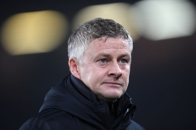 Ole Gunnar Solskjaer looks on during Manchester United's draw with Sheffield United