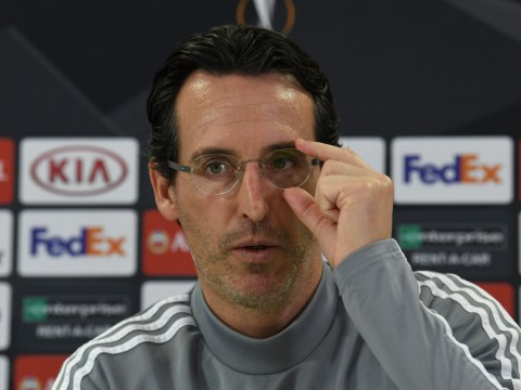 Unai Emery claims Arsenal fans' negativity is affecting the confidence of his players