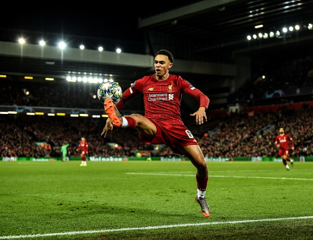 Trent Alexander-Arnold after replacing James Milner during Liverpool's draw with Napoli in the Champions League