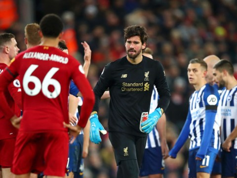 Liverpool star Virgil van Dijk reveals who was to blame for Alisson Becker red card vs Brighton