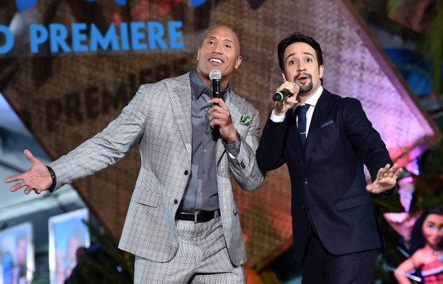 Dwayne 'The Rock' Johnson and Lin Manuel Miranda