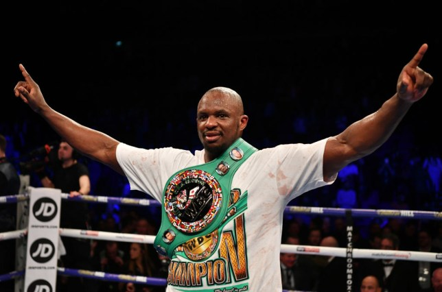 Dillian Whyte with a WBC belt