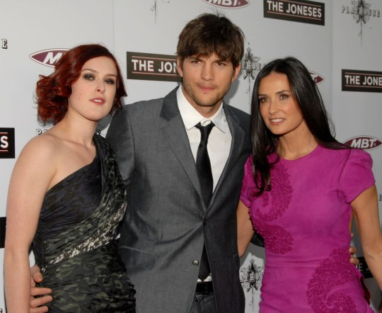 Rumer Willis, Ashton Kutcher and Demi Moore