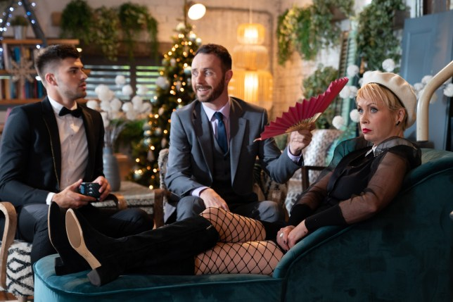 Marnie and James Nightingale and Romeo Quinn in Hollyoaks