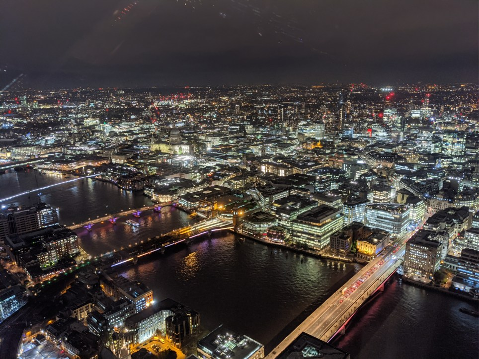 Night time photography from the Shard