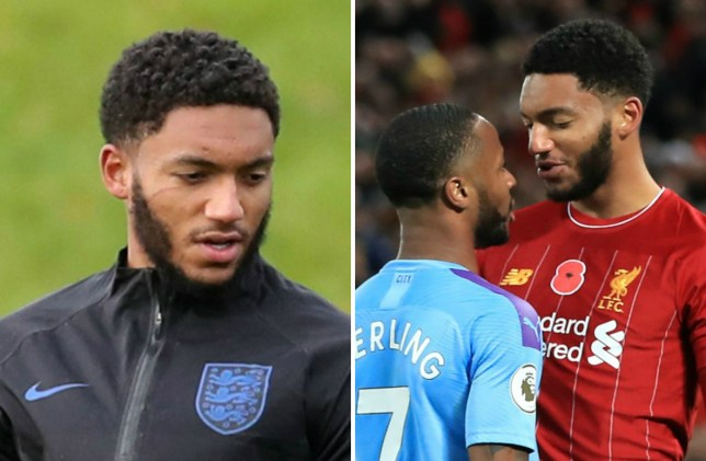 Joe Gomez left with scratch after Raheem Sterling bust-up