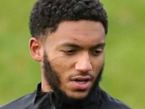 Joe Gomez sports scratch under his eye in England training after Raheem Sterling bust-up