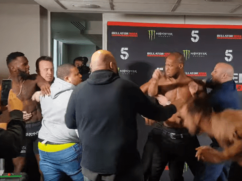 Bellator London: Fabian Edwards and Mike Shipman spark melee involving Michael Venom Page at weigh-ins