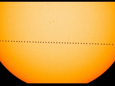 Mercury is currently passing in front of the sun