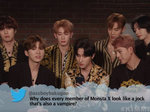 Monsta X react perfectly to mean tweet about them 'looking like jocks who are also vampires'