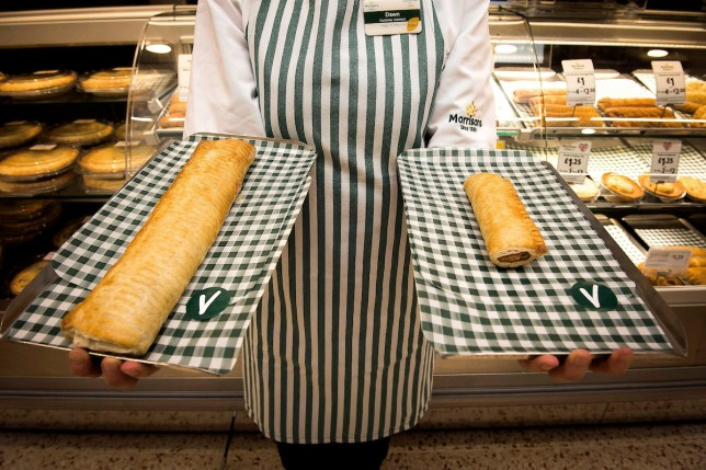 Morrison's vegan sausage rolls