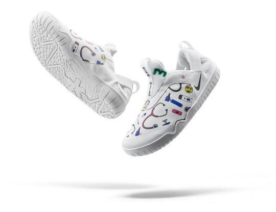 Kahleah Corona's design for Nike Air Zoom Pulse for doctors and nurses