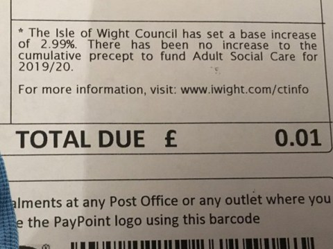 Council billed man 1p for his late mother's council tax