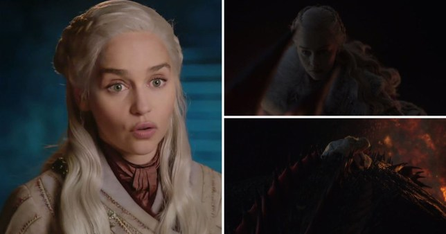 Emilia Clarke in Game of Thrones season 8 special