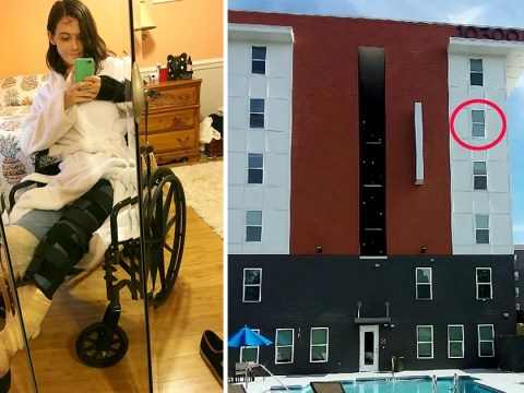Nursing assistant's horrific injuries after falling from fourth-floor window