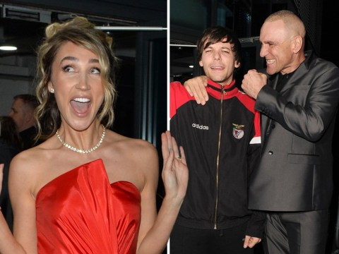 Louis Tomlinson mucks about with Vinnie Jones for the cameras as he's sent home from X Factor: Celebrity