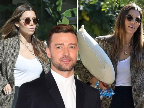 Jessica Biel spotted for the first time since hubby Justin Timberlake was caught cosying up with co-star