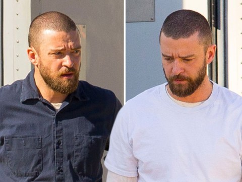 Justin Timberlake looks tense as he heads back to work after holding hands with co-star Alisha Wainwright