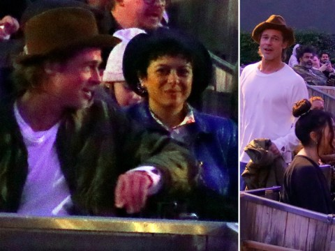 Brad Pitt pictured with Arrested Development's Alia Shawkat yet again at Kanye West's opera – but they're 'just friends'