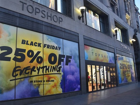 Empty streets on Black Friday as customers choose to shop online instead