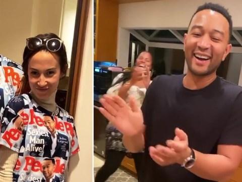 Chrissy Teigen turns John Legend's Sexiest Man Alive cover into pyjamas for Thanksgiving