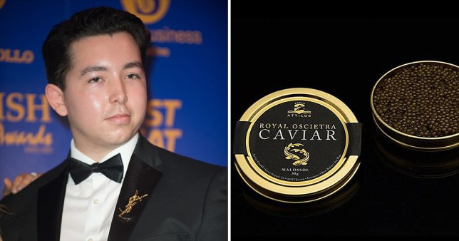 The Apprentice star Ryan-Mark and caviar