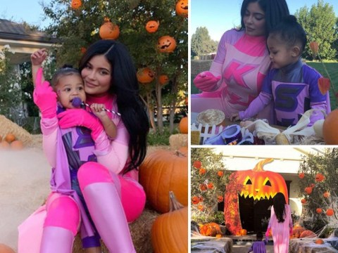 Move over Avengers, Kylie Jenner is superhero we all deserve as she matches with Stormi for Halloween