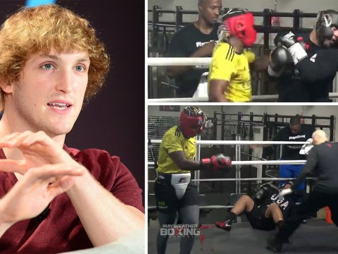 Logan Paul mocks KSI after he knocks out sparring partner in bloody fight