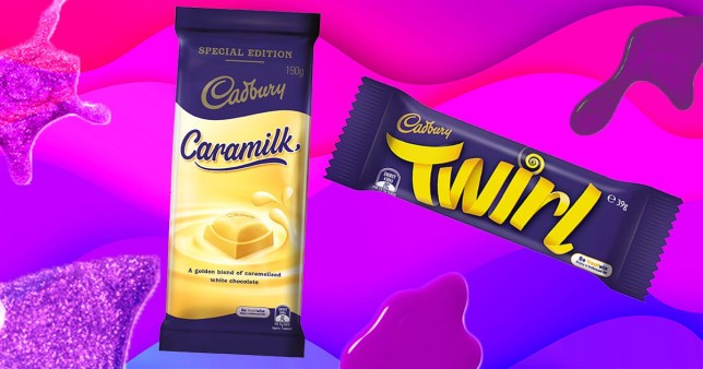 Caramilk Twirl chocolate bar