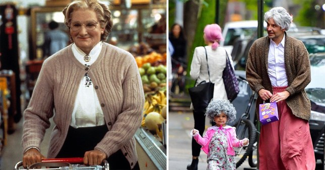 Bradley Cooper twins with daughter Lea for iconic Robin Williams Mrs Doubtfire costumes