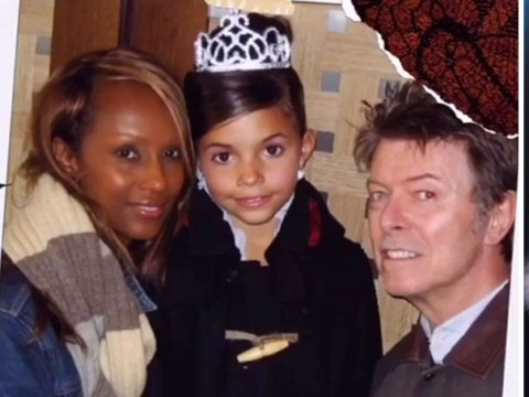 David Bowie's wife Iman remembers late star with adorable home photos on Halloween