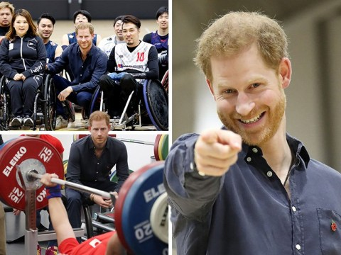 Prince Harry visits Japan Paralympic hopefuls ahead of Rugby World Cup final