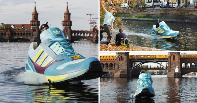A jet ski that looks like a giant sneaker