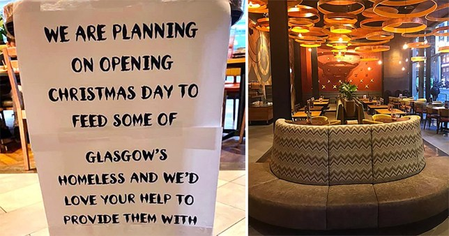 People have volunteered to give their time or donate items (Picture: Nando's Glasgow Waterloo Street)