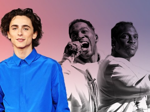 Timothee Chalamet joins Kid Cudi and Pusha T on stage and we are losing our minds