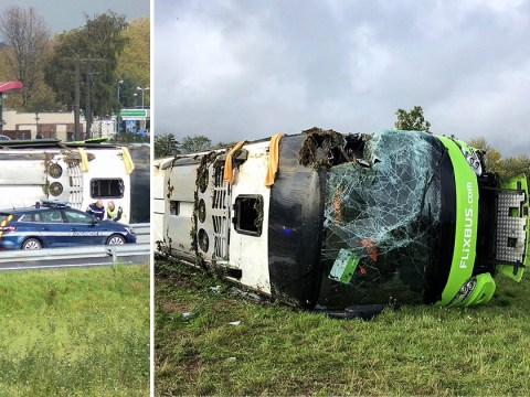 Over 20 injured after coach from Paris to London overturns