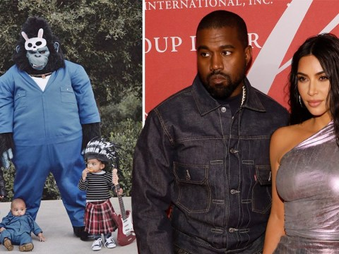 Kim Kardashian's Halloween isn't over yet as she shares pic of Kanye West and the kids trick or treating as Sing characters