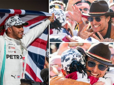 No one is prouder of Lewis Hamilton's sixth F1 win than Matthew McConaughey