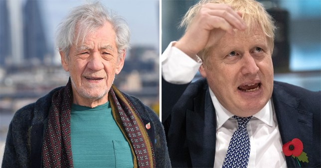 Ian McKellen and Boris Johnson