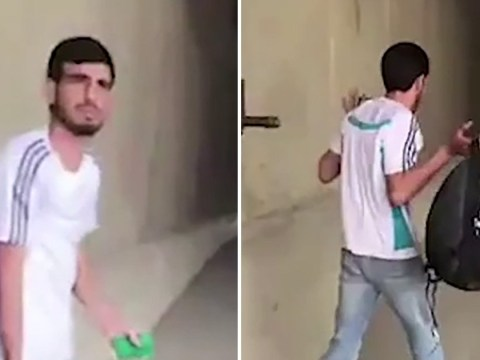 Moment Palestinian man is shot in the back 'for fun' as he walks away with hands up