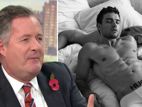 Piers Morgan orders Liam Payne to 'keep his clothes on' after very naked underwear advert