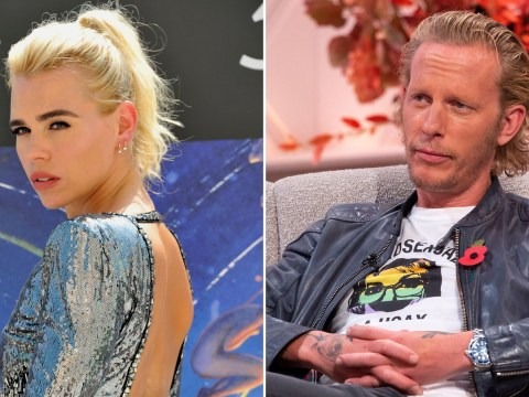 Laurence Fox admits he's 'hungover' on Lorraine as he opens up on break down of marriage to Billie Piper