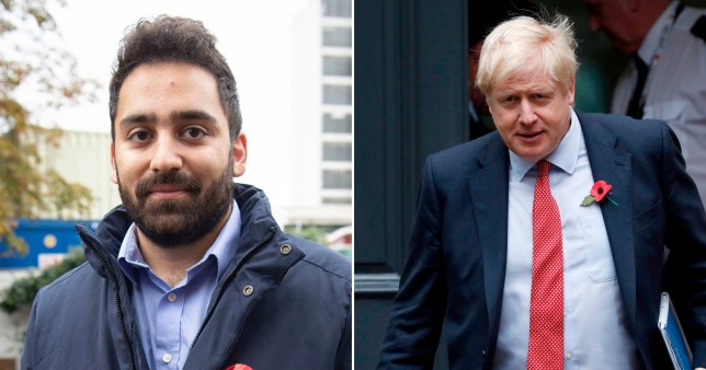 Ali Milani, 25, is campaigning to win the Prime Minister's Uxbridge and South Ruislip seat (Picture: PA)